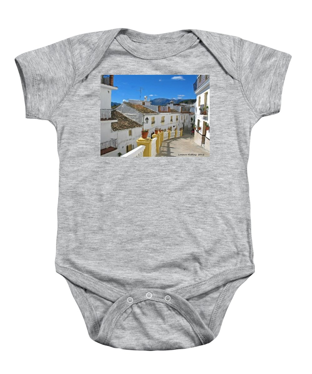 Spain Baby Onesie featuring the painting Calle Tipica by Bruce Nutting