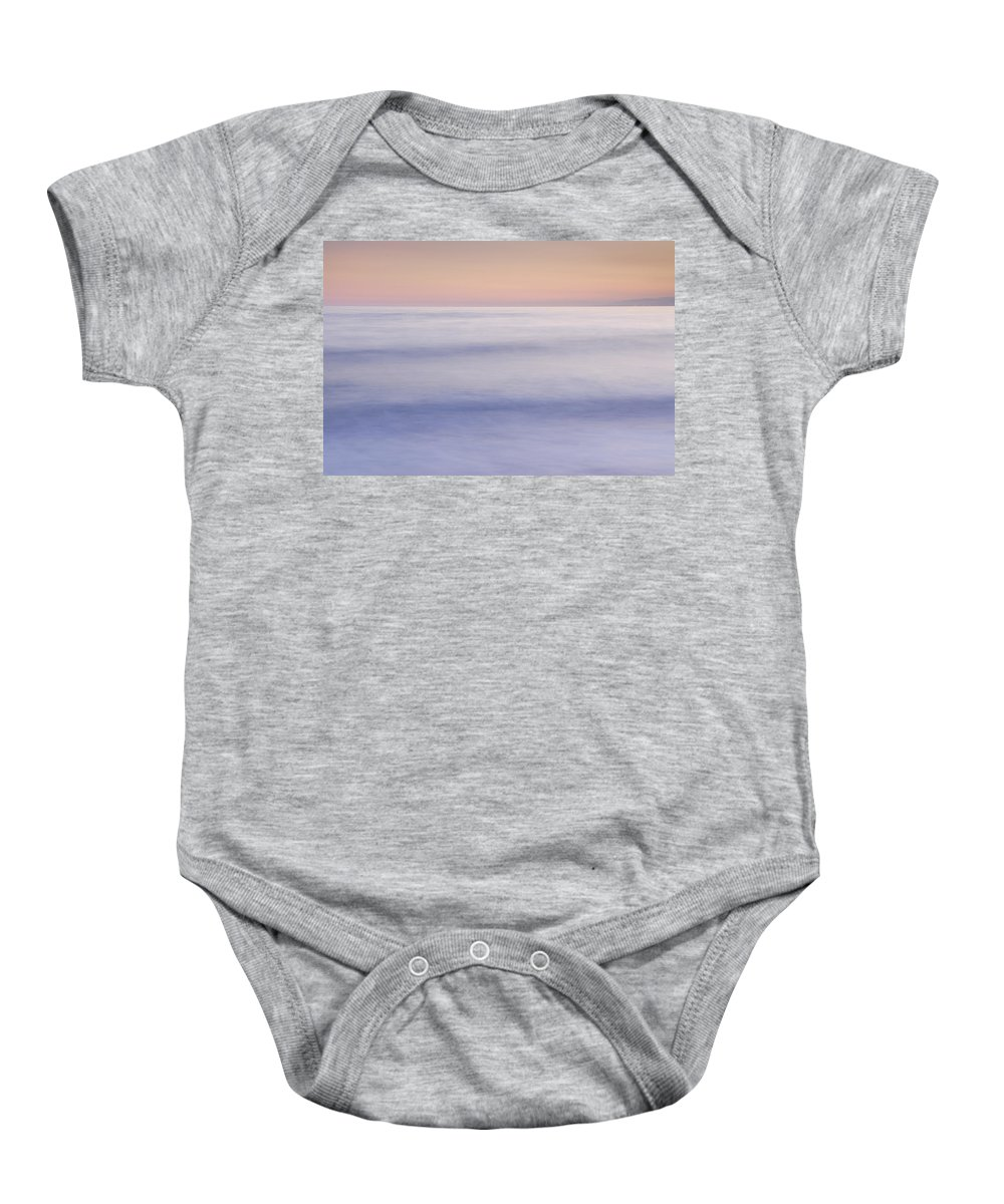 Seascape Baby Onesie featuring the photograph Calm by Guido Montanes Castillo