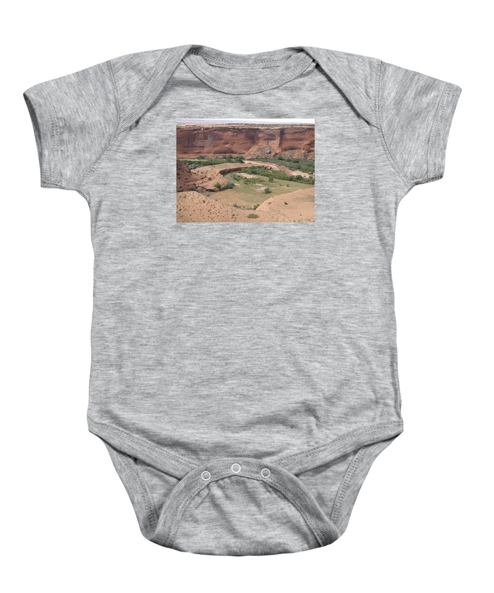 Canyon Baby Onesie featuring the photograph Canyon De Chelly View by Christiane Schulze Art And Photography