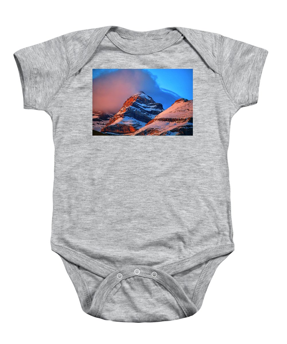 A Protected Baby Onesie featuring the photograph Canyon River A-isclo Or Bell-s. Ordesa by David Santiago Garcia