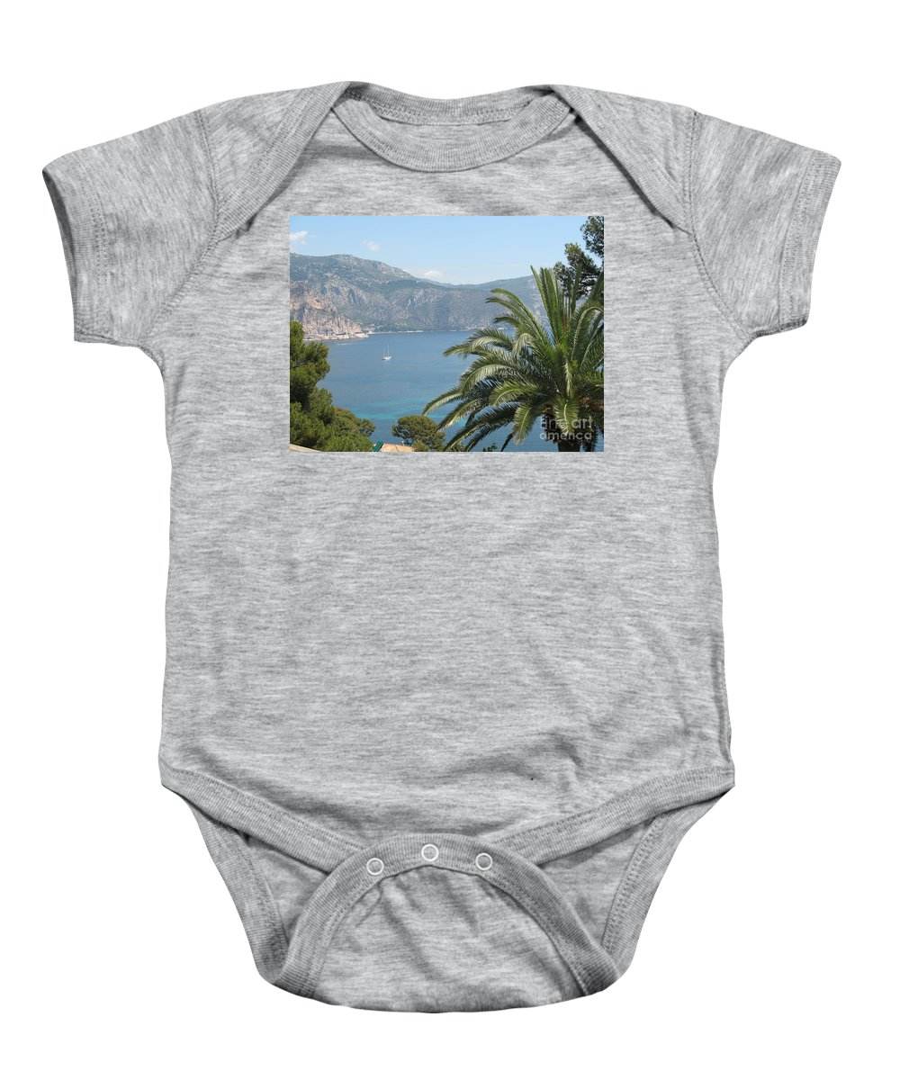 Mediterranean Sea Baby Onesie featuring the photograph Cap Ferrat by Christiane Schulze Art And Photography