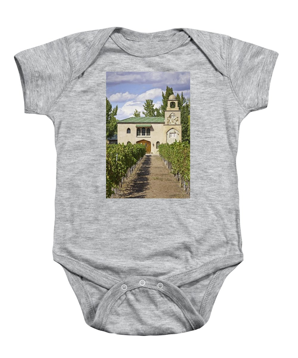 Albuquerque Baby Onesie featuring the photograph Casa Rodena Winery by Jon Zich