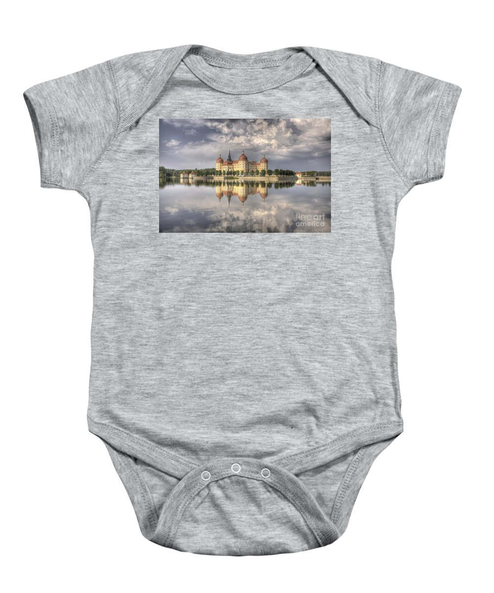 Castle Baby Onesie featuring the photograph Castle In The Air by Heiko Koehrer-Wagner