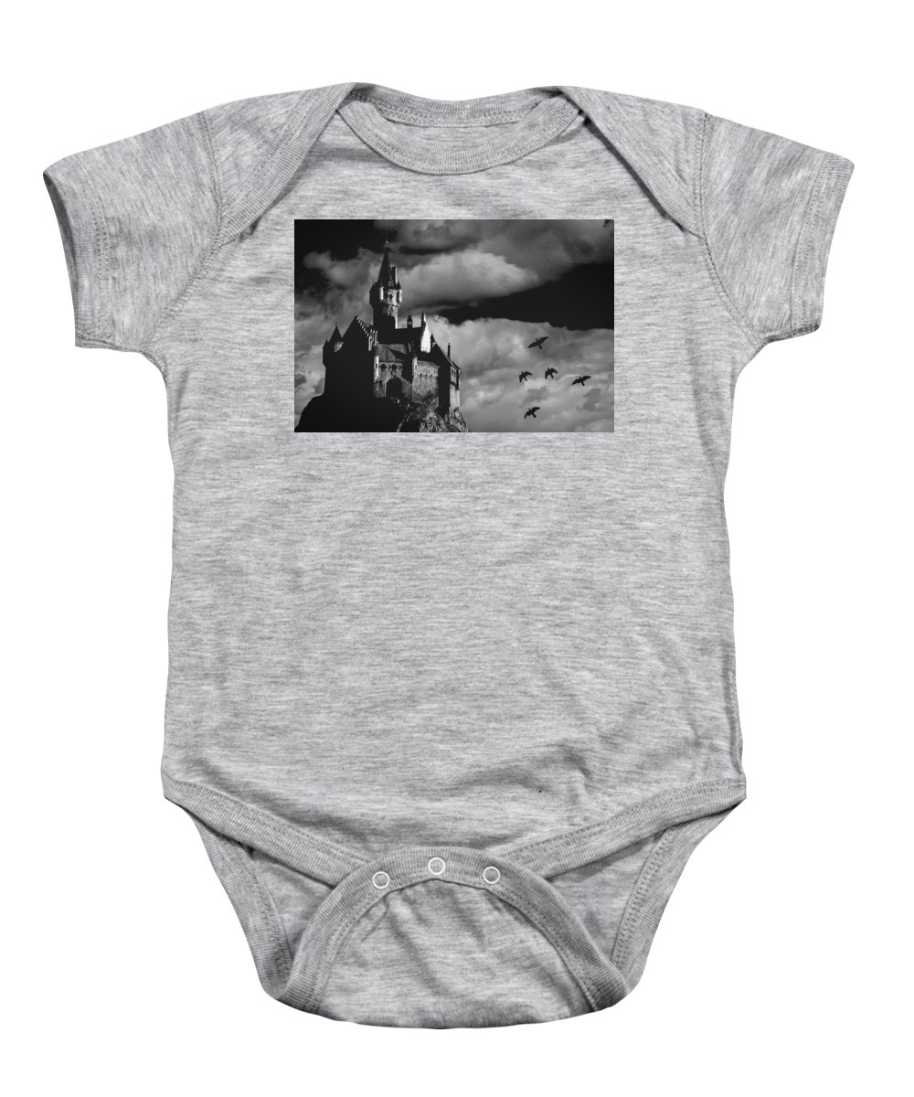 Building Baby Onesie featuring the photograph Castle In The Sky by Bob Orsillo