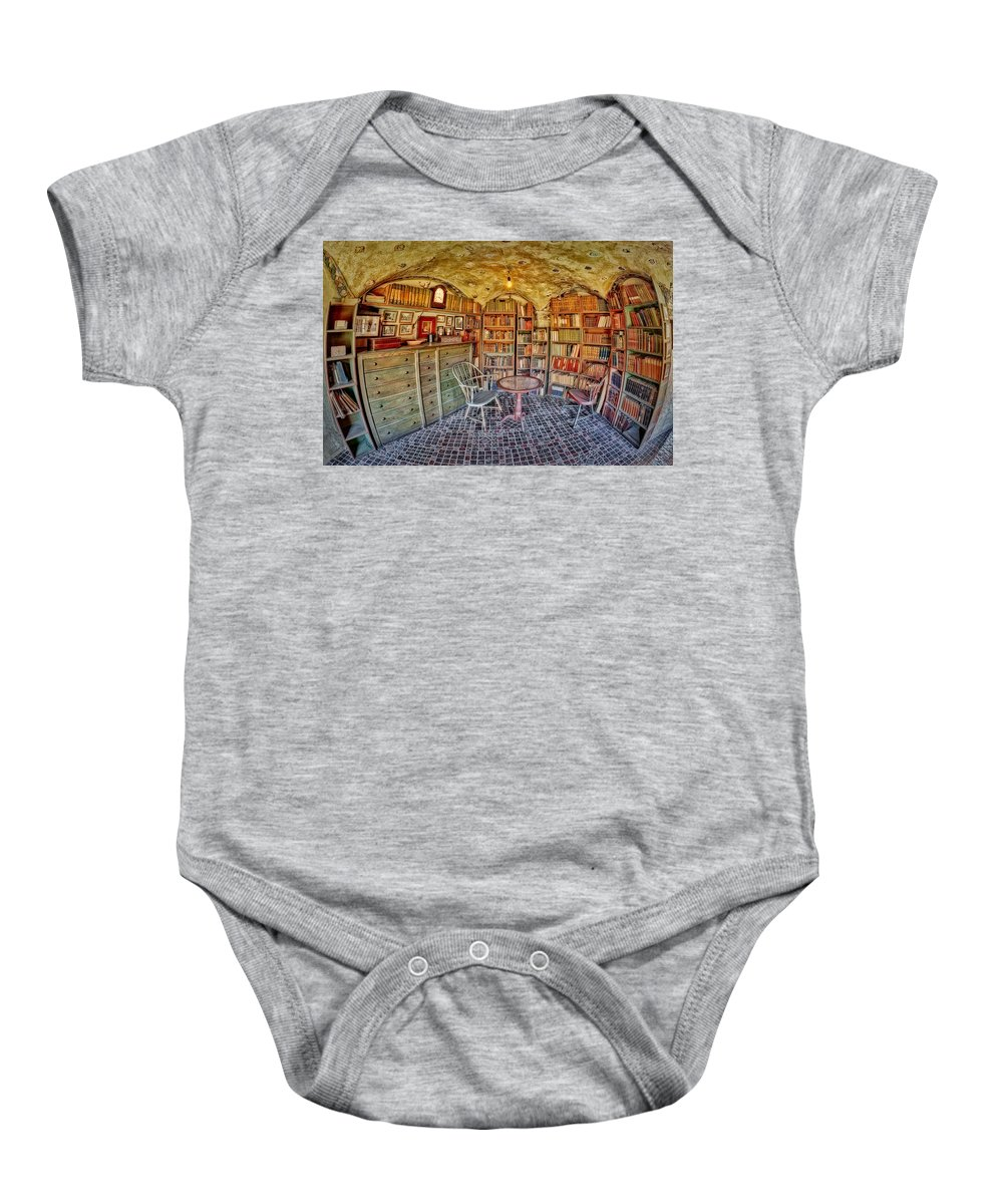 Byzantine Baby Onesie featuring the photograph Castle Map Room by Susan Candelario