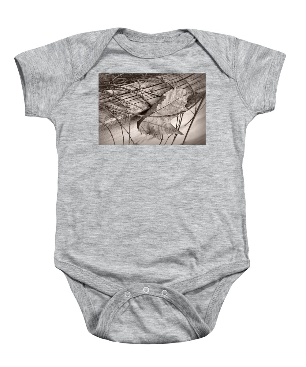 Autumn Baby Onesie featuring the photograph Caught by Nikolyn McDonald