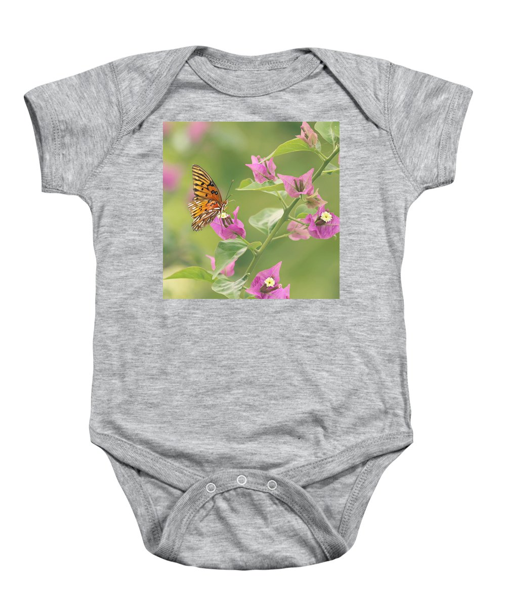 Butterfly Baby Onesie featuring the photograph Chance Encounter by Kim Hojnacki