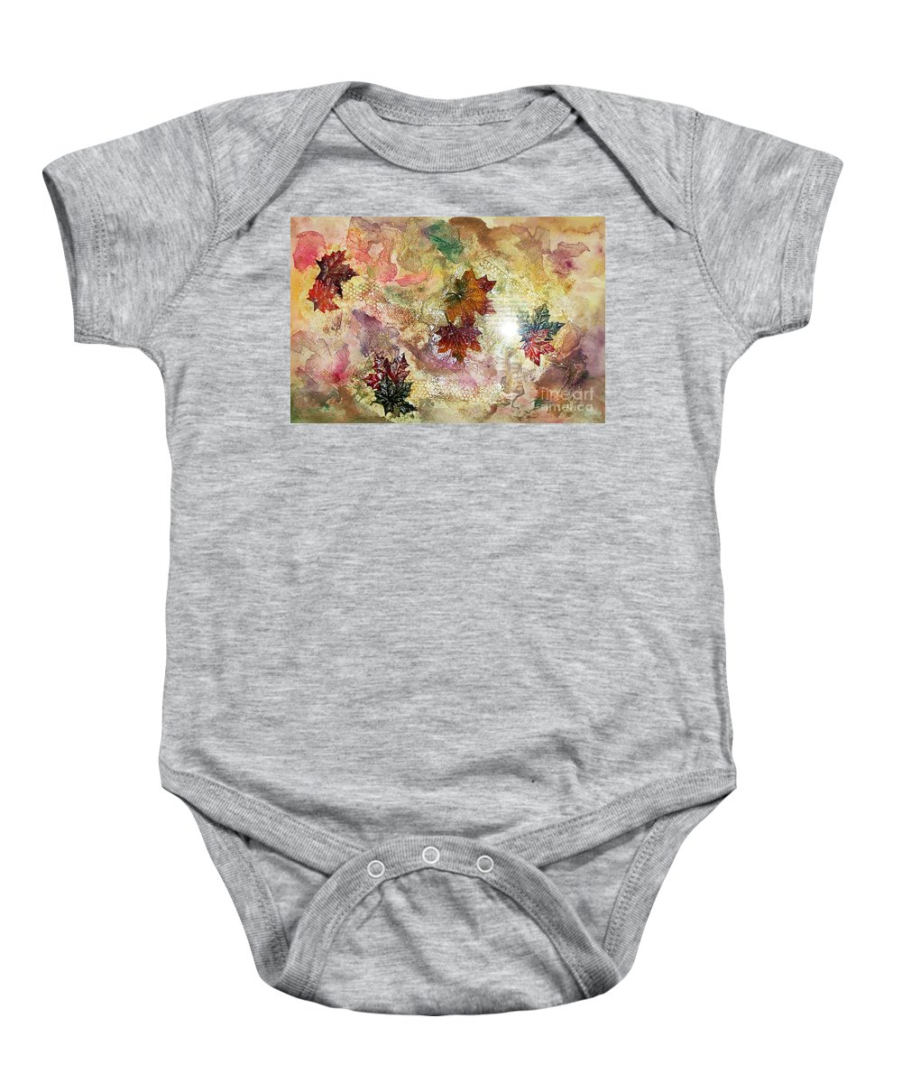 Water Color Abstract Baby Onesie featuring the mixed media Change In You II by Yael VanGruber