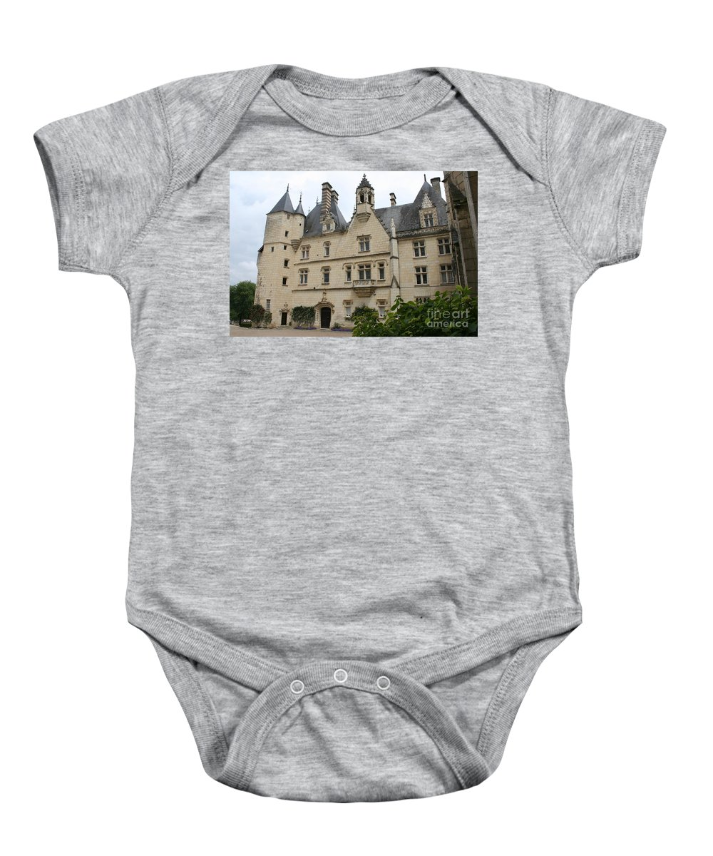 Palace Baby Onesie featuring the photograph Chateau Usse by Christiane Schulze Art And Photography