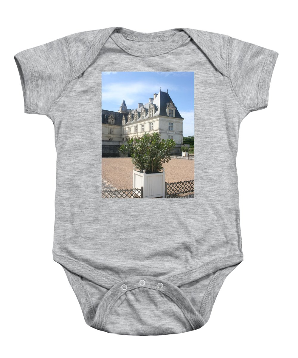 Palace Baby Onesie featuring the photograph Chateau Villandry View by Christiane Schulze Art And Photography