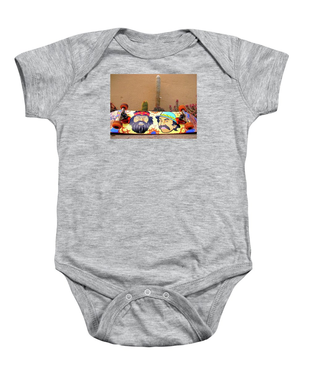Skate Boards Baby Onesie featuring the photograph Cheech N Chong by John King