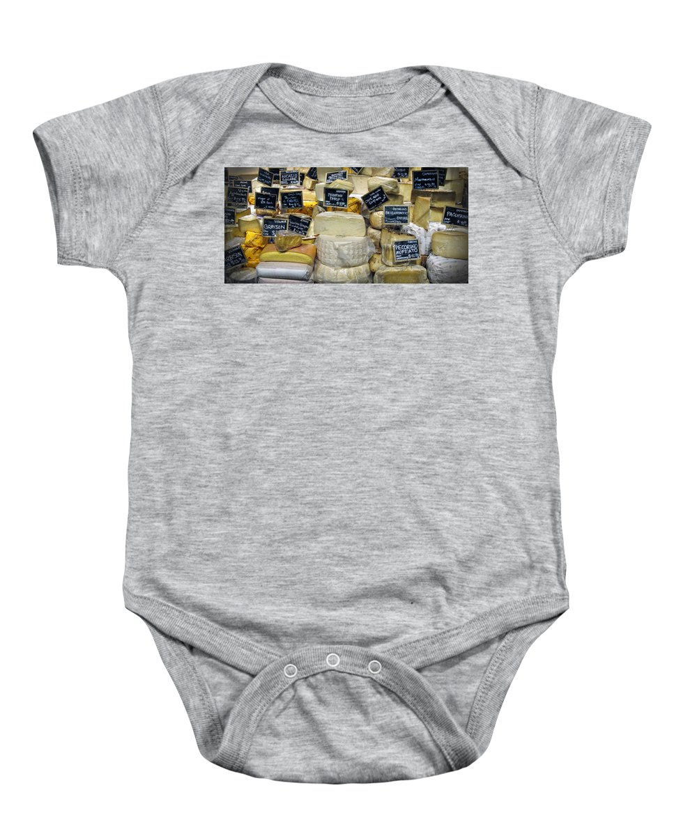 Cheese Baby Onesie featuring the photograph Cheese by Dave Mills