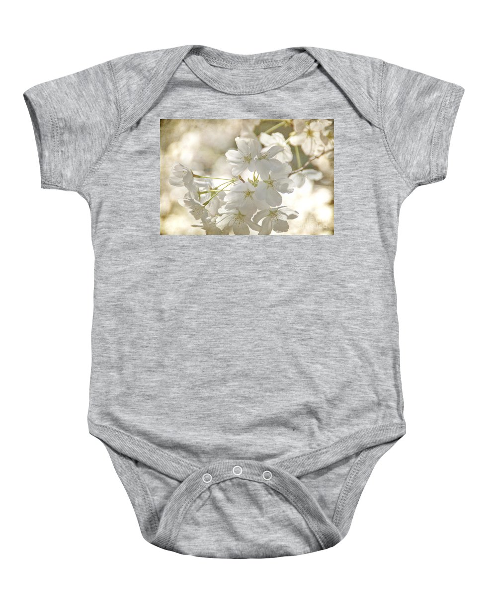 Flowers Baby Onesie featuring the photograph Cherry Blossoms by Peggy Hughes