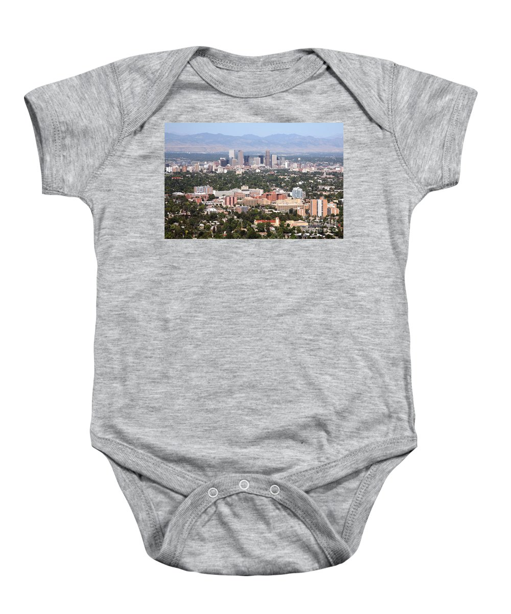 Colorado Baby Onesie featuring the photograph Cherry Creek In Denver by Bill Cobb