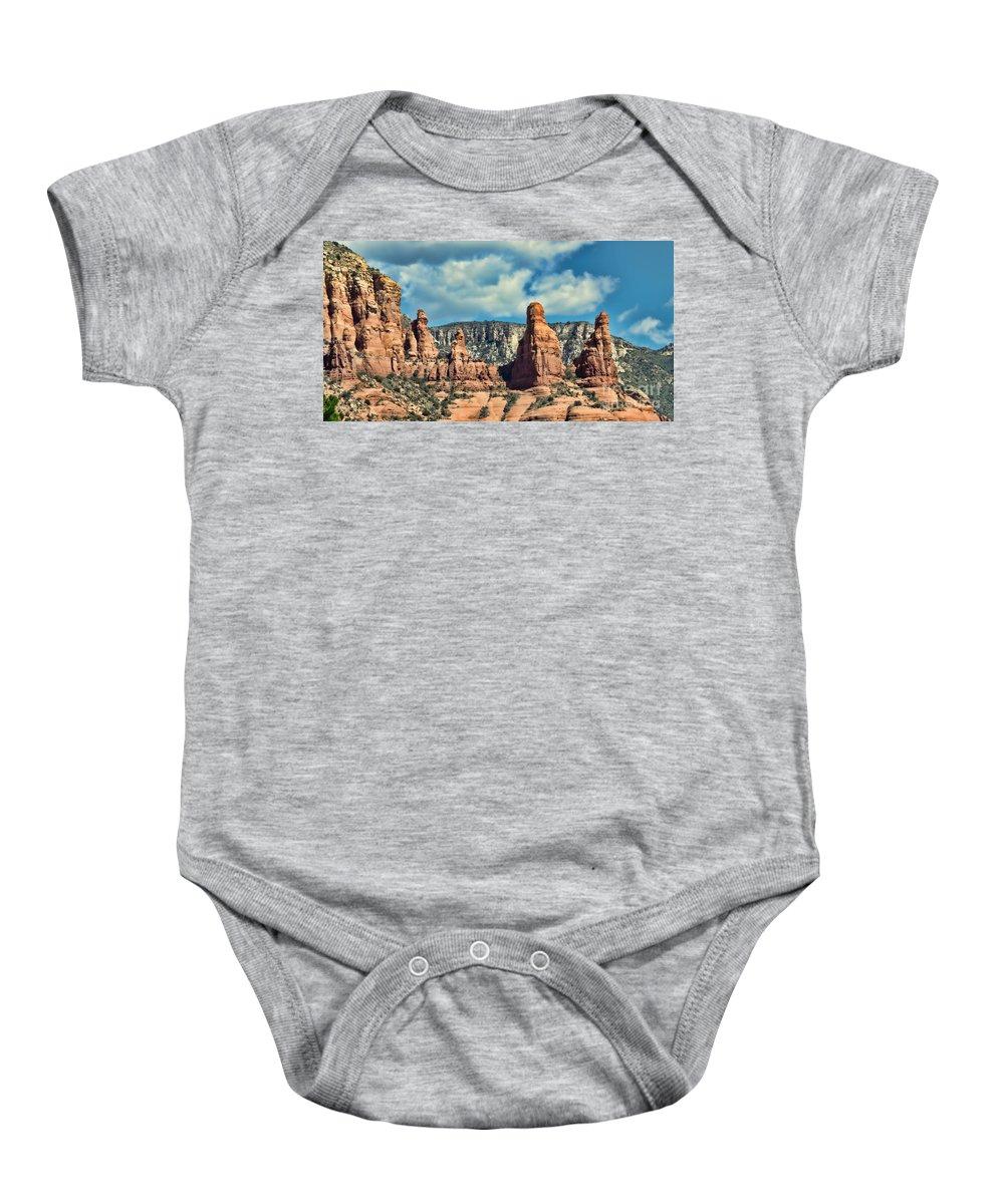 Sedona Baby Onesie featuring the photograph Chicken Point Sedona Arizona by Donna Greene