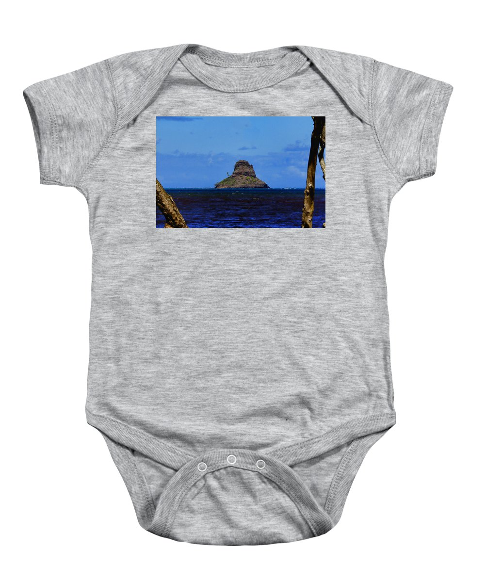 Chinaman's Hat Island( Mokoli I Island) Baby Onesie featuring the photograph Chinaman's Hat Island-kane'ohe Bay Oahu Hawaii by Douglas Barnard