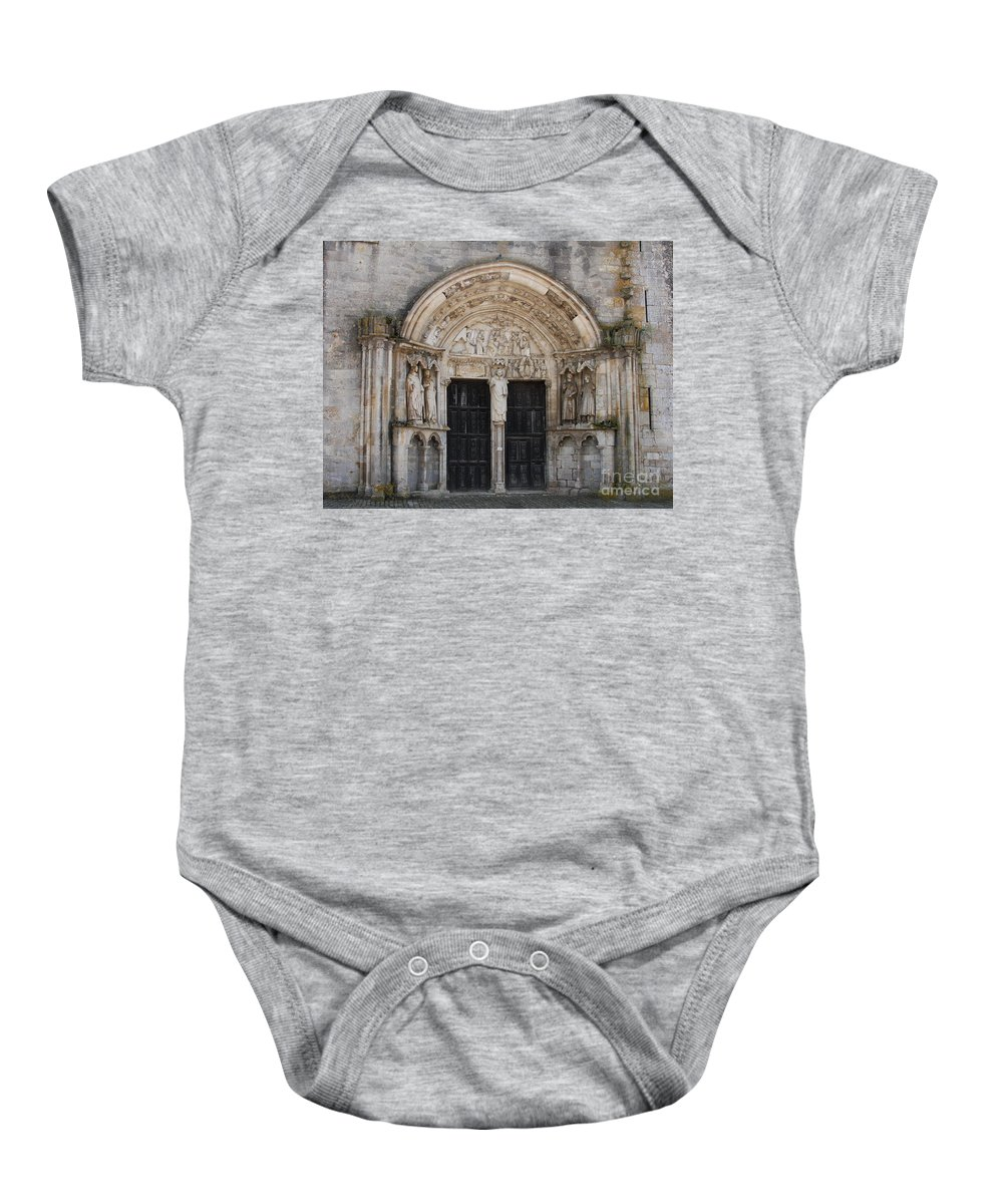 Church Baby Onesie featuring the photograph Church Entrance - St Thibault by Christiane Schulze Art And Photography