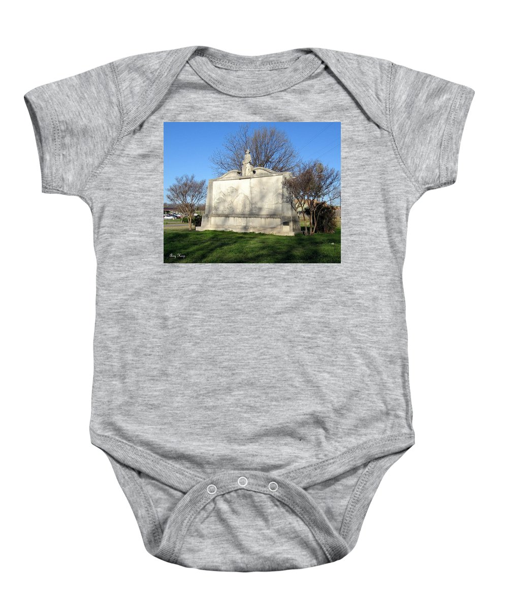 Gainesville Texas Baby Onesie featuring the photograph City Memorial Gainesville Texas by Amy Hosp