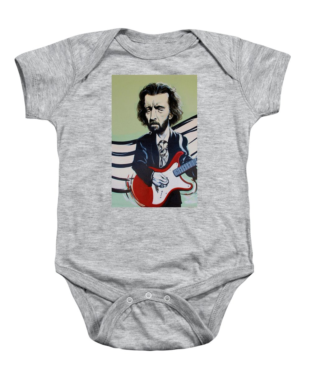 Eric Clapton Baby Onesie featuring the photograph Clapton by Rob Hans