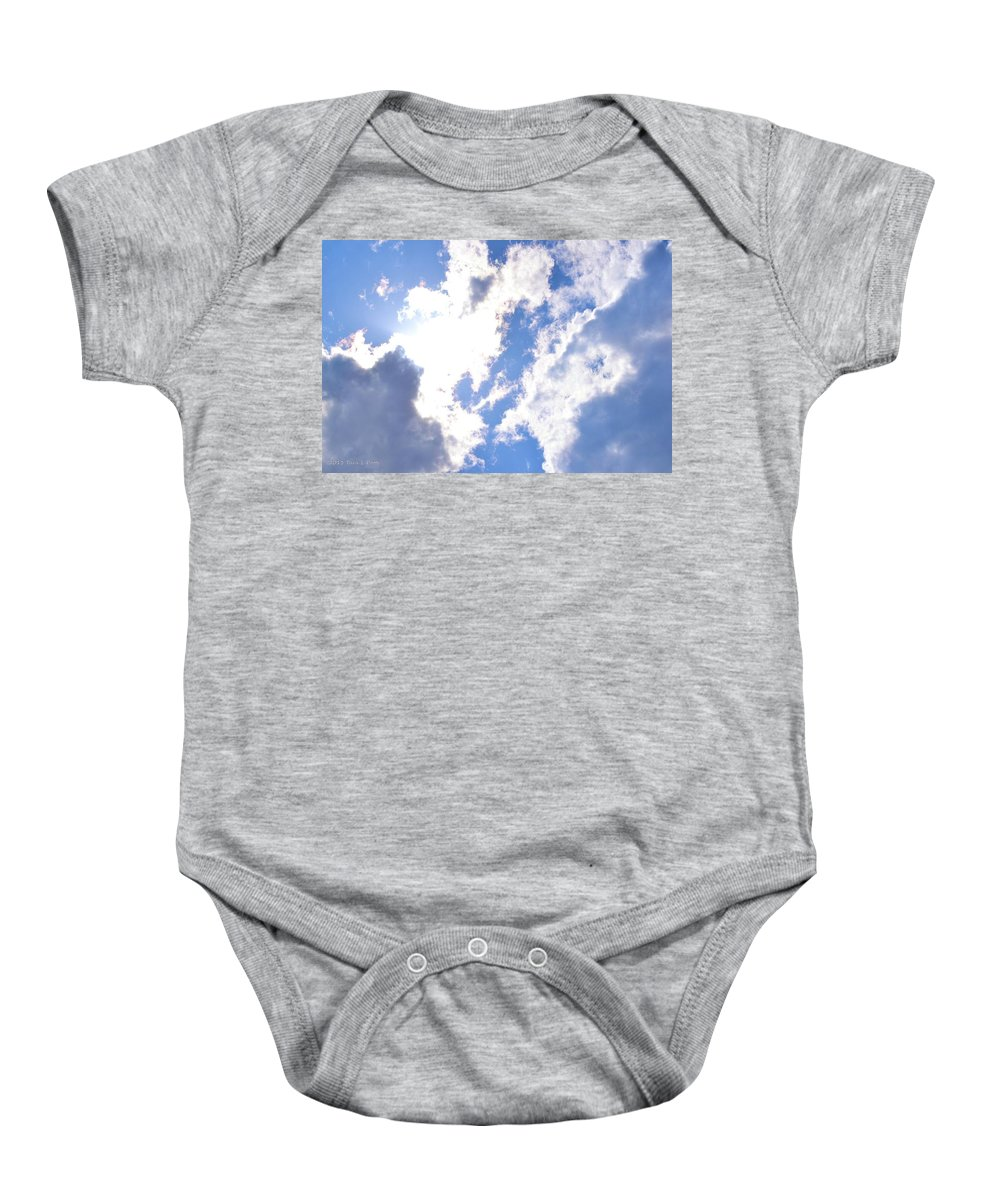 Clouds Baby Onesie featuring the photograph Clouds And Sunshine by Tara Potts