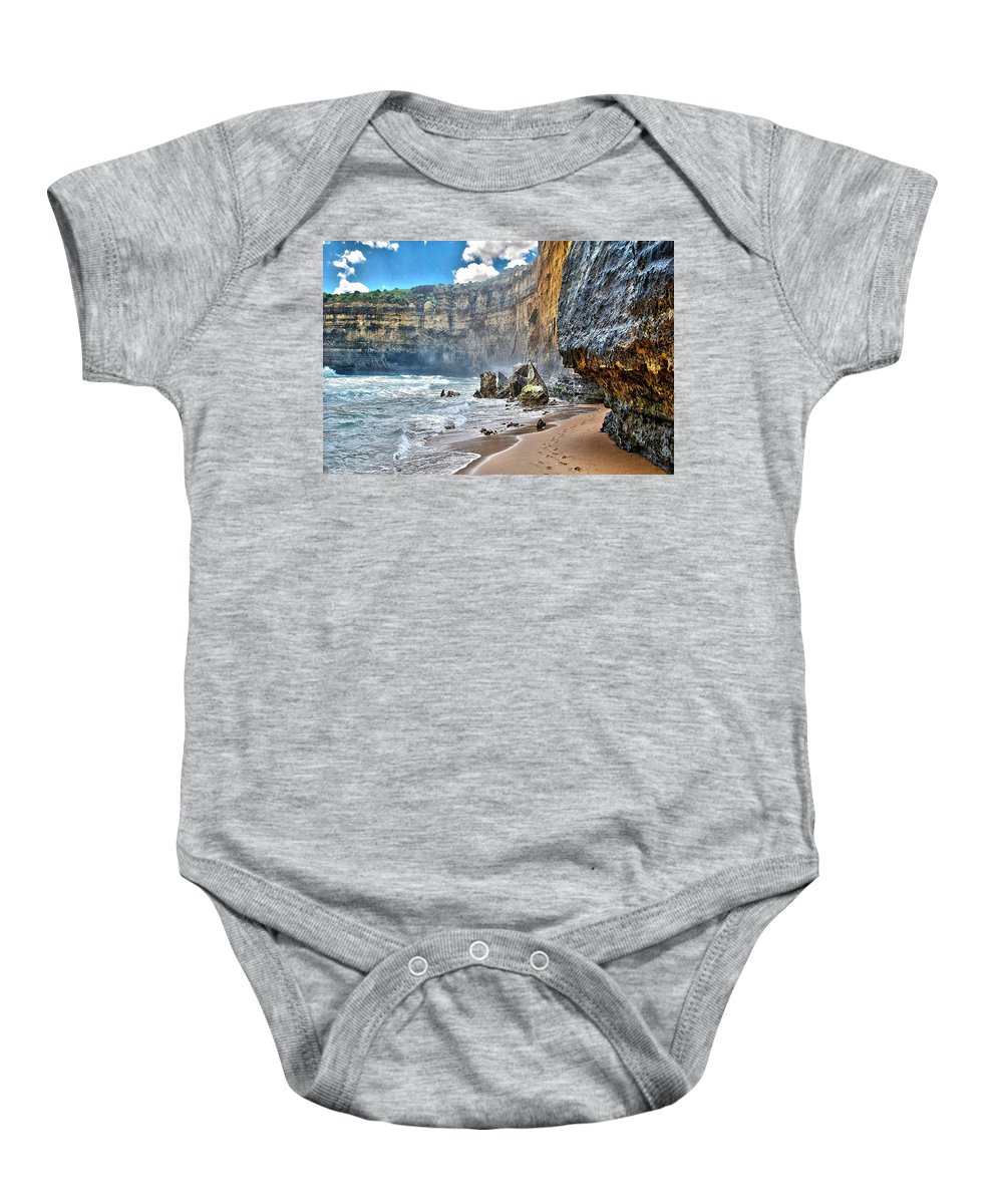 Beach Baby Onesie featuring the photograph Coast 4 by Ingrid Smith-Johnsen