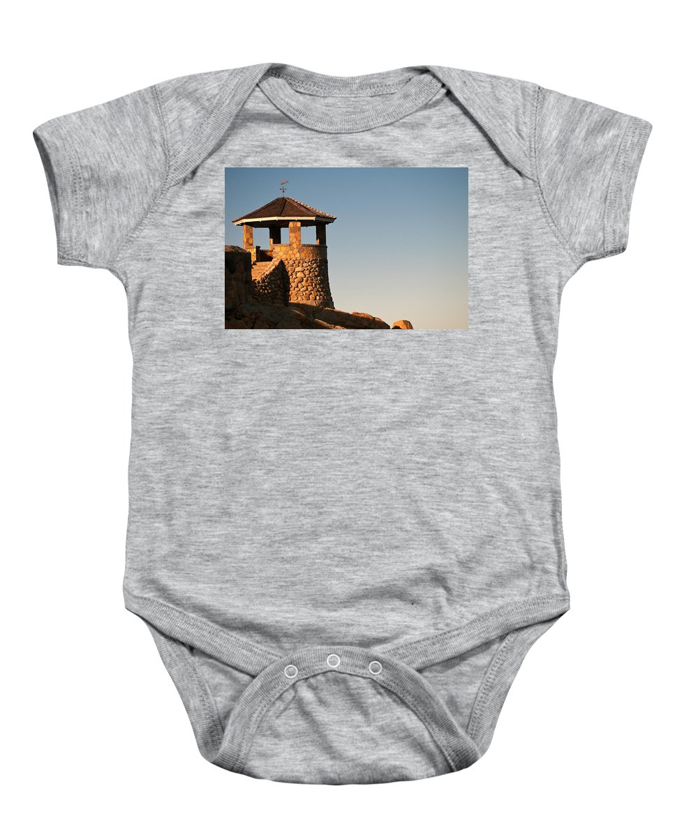 massachusetts Seacoast Baby Onesie featuring the photograph Coastal Overlook by Paul Mangold