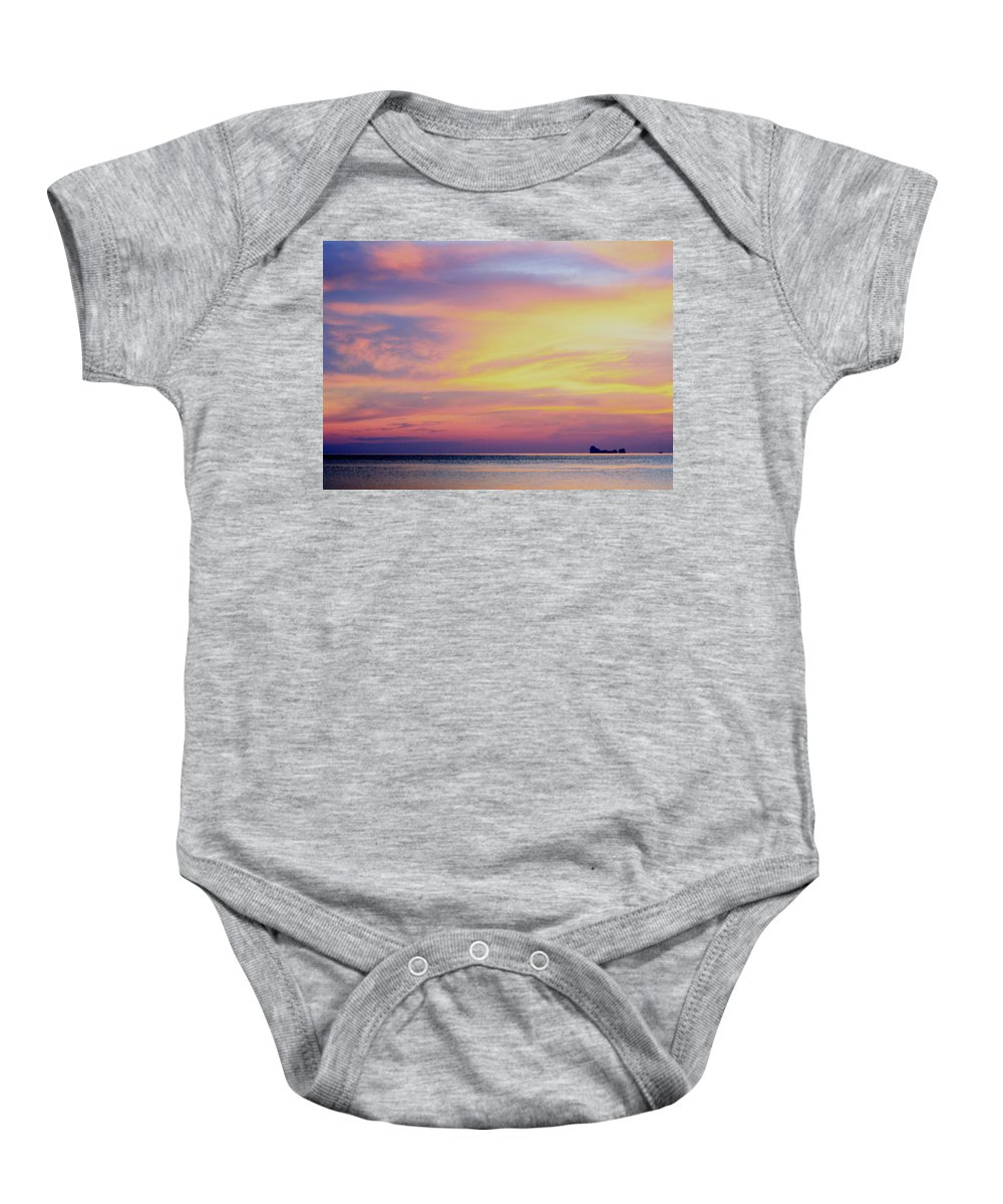 Summer Baby Onesie featuring the photograph Cocktails And Dreams by A Rey