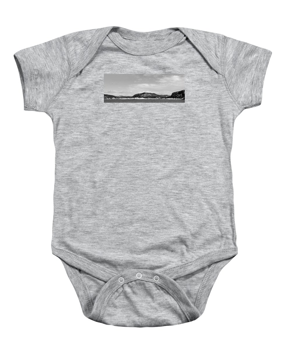 Barbara Griffin Baby Onesie featuring the photograph Cold Day In The Harbour by Barbara Griffin