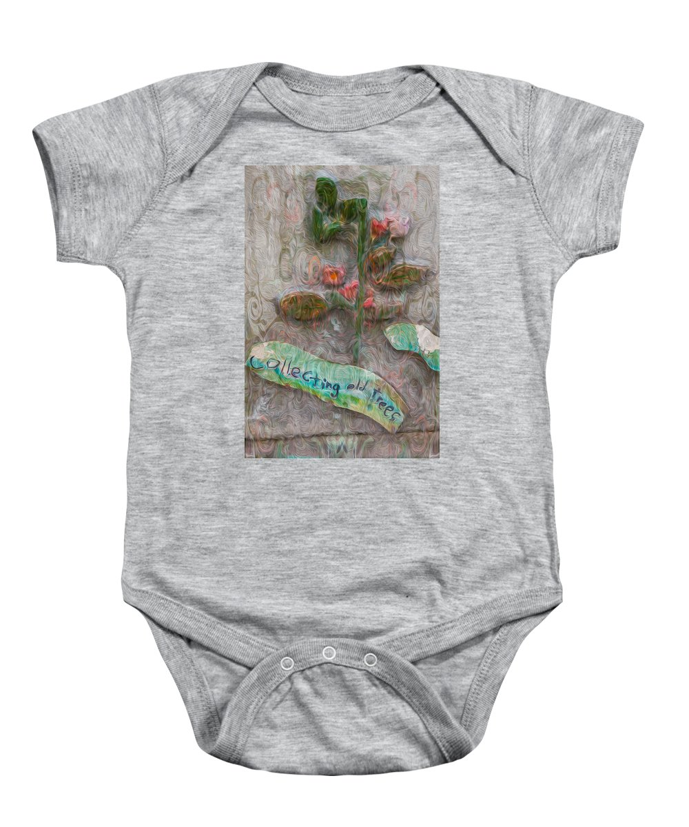 Georgia Okeefe Baby Onesie featuring the painting Collecting Old Trees by Omaste Witkowski