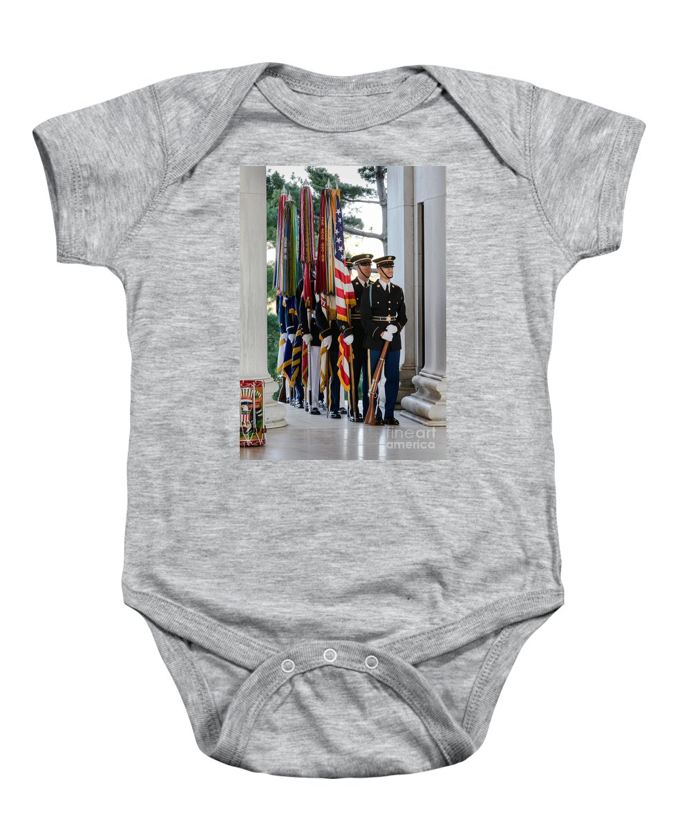 Washington Dc Baby Onesie featuring the photograph Color Guard by Jerry Fornarotto