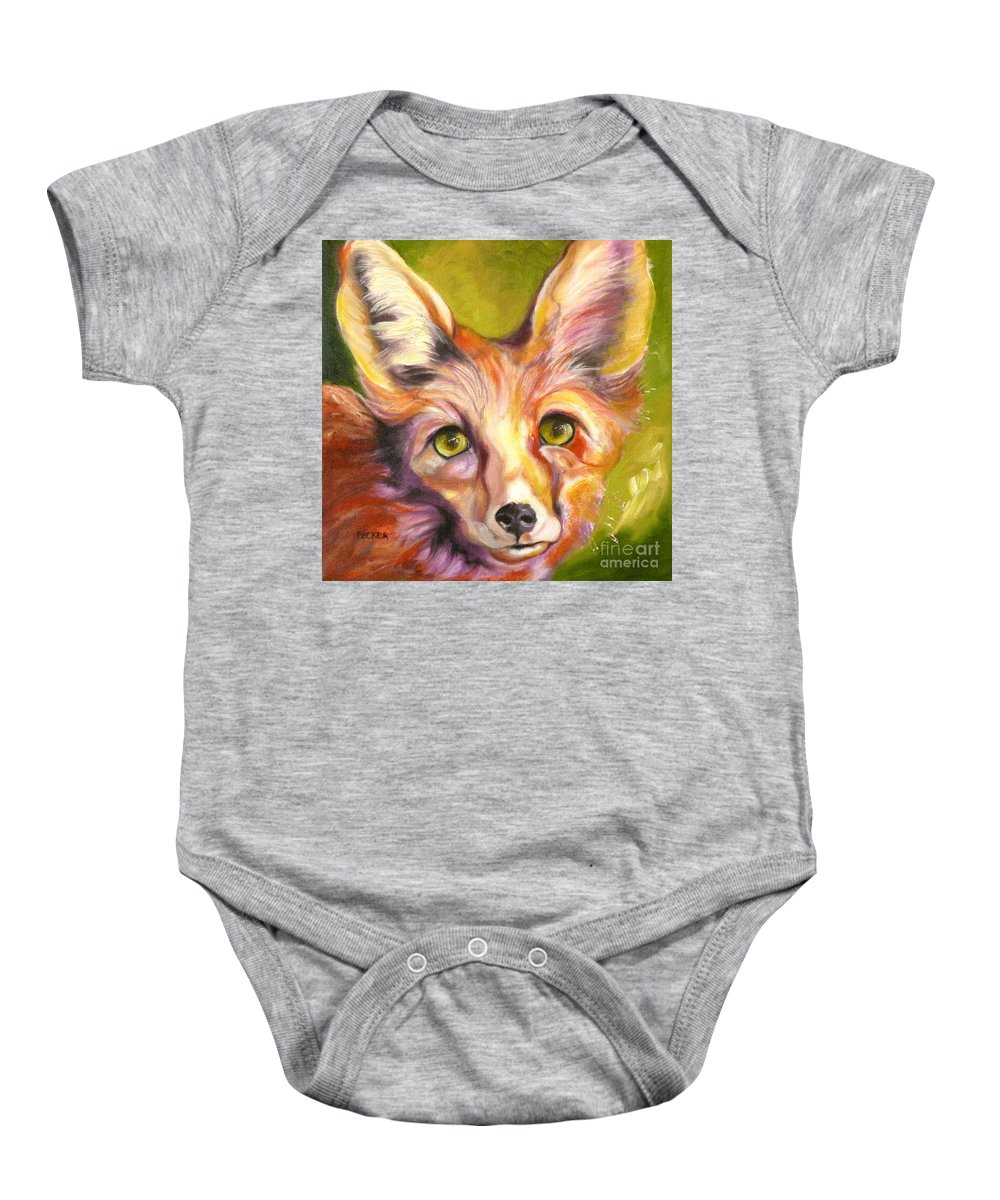 Oil Painting Baby Onesie featuring the painting Colorado Fox by Susan A Becker