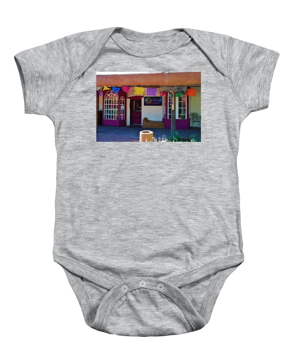 Albuquerque Baby Onesie featuring the photograph Colorful Store In Albuquerque by Dany Lison