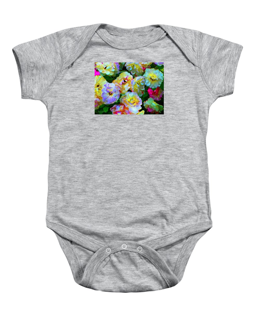 Rose Print Baby Onesie featuring the painting Colors And Roses by Susanna Katherine