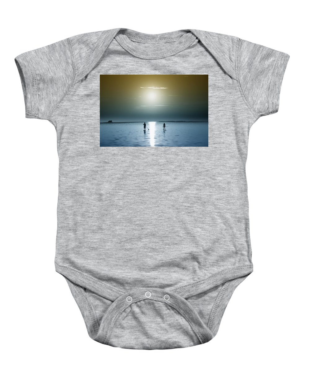 Coming Out Of The Sun Baby Onesie featuring the photograph Coming Out Of The Sun by Bill Cannon