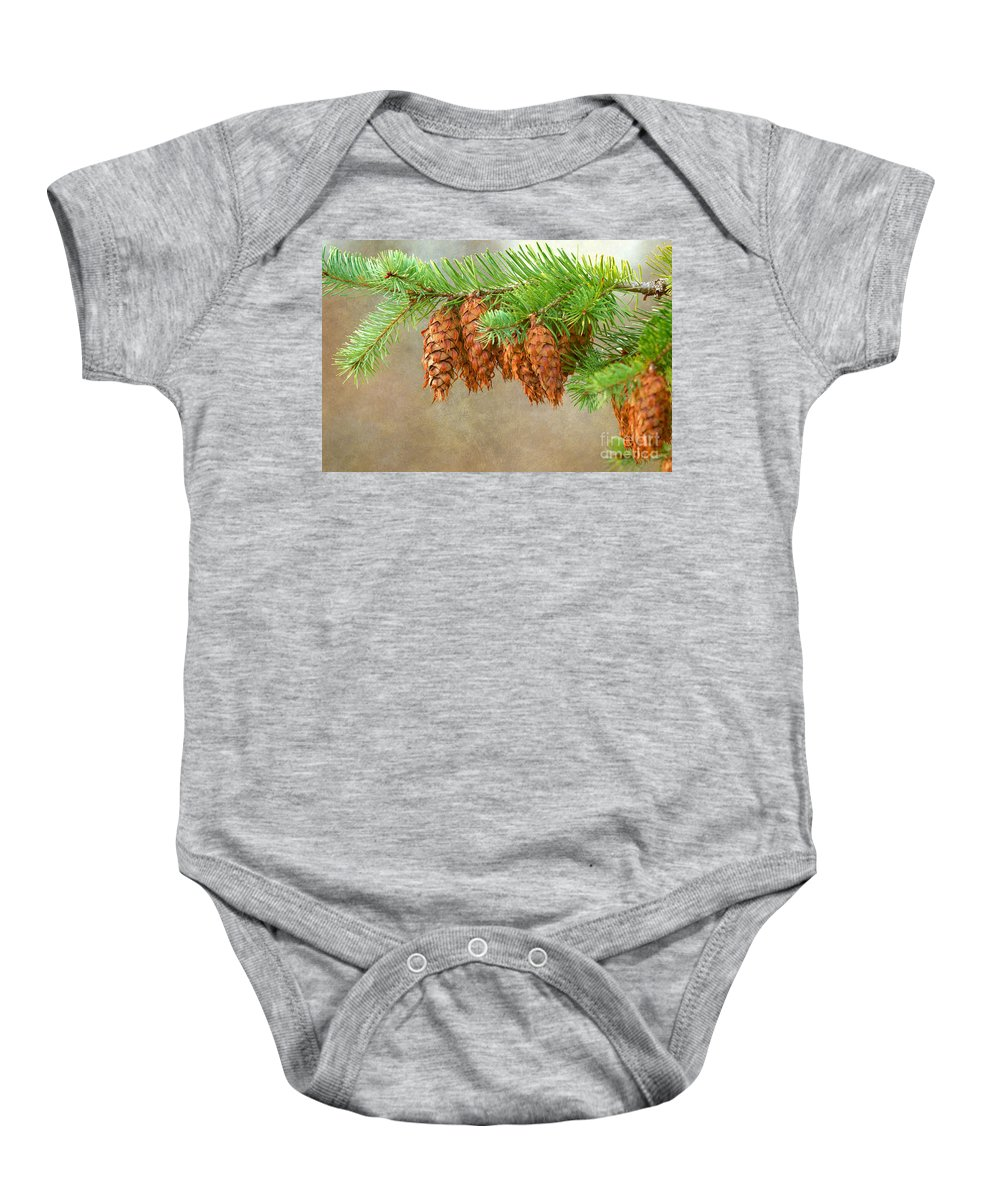Cones Baby Onesie featuring the photograph Cones 2 by Sharon Talson
