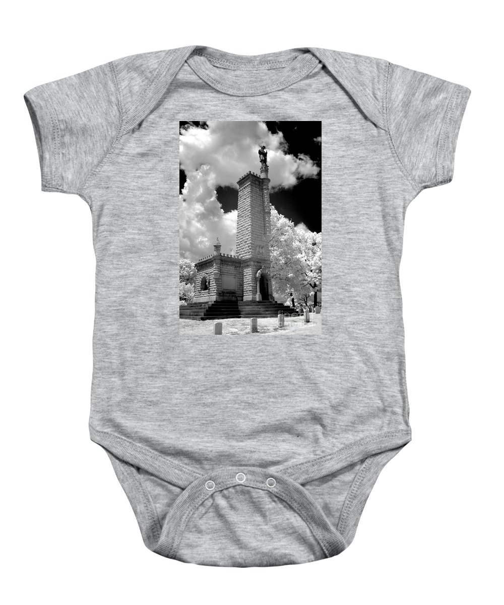 Infrared Baby Onesie featuring the photograph Confederate Resting Place by Paul W Faust - Impressions of Light