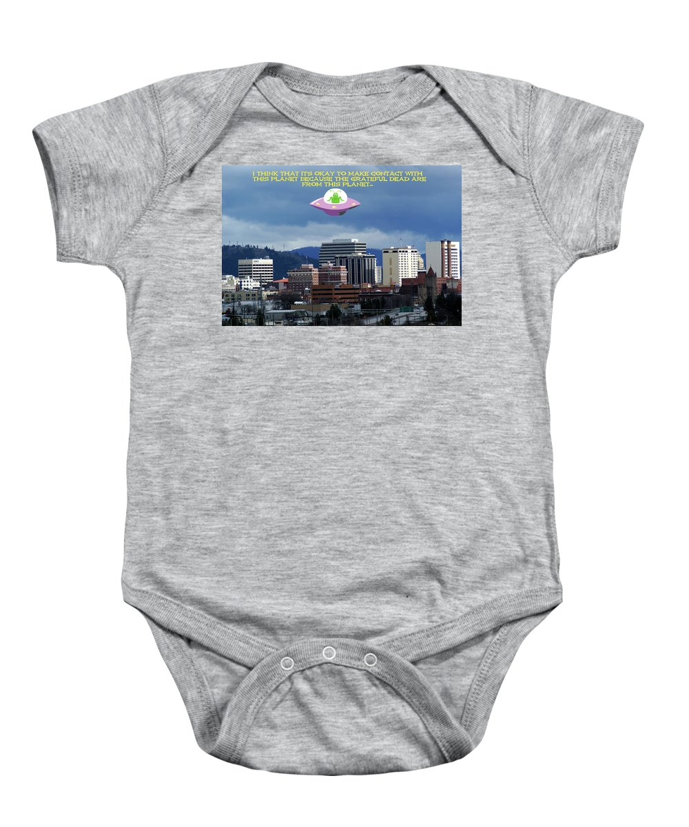 Grateful Dead Baby Onesie featuring the photograph Contact With A Dead Planet by Ben Upham III