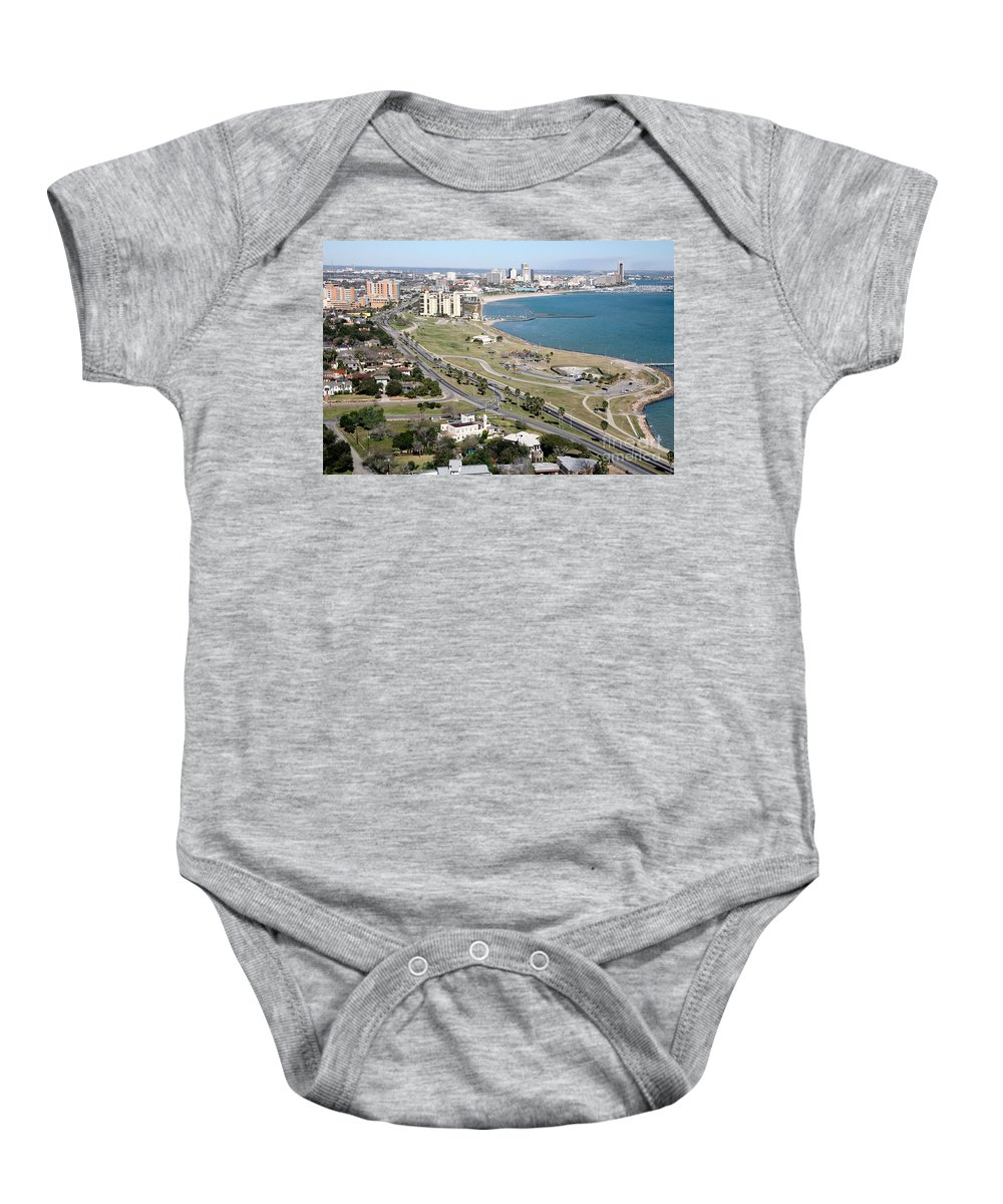 Corpus Christi Baby Onesie featuring the photograph Corps Christi Skyline by Bill Cobb