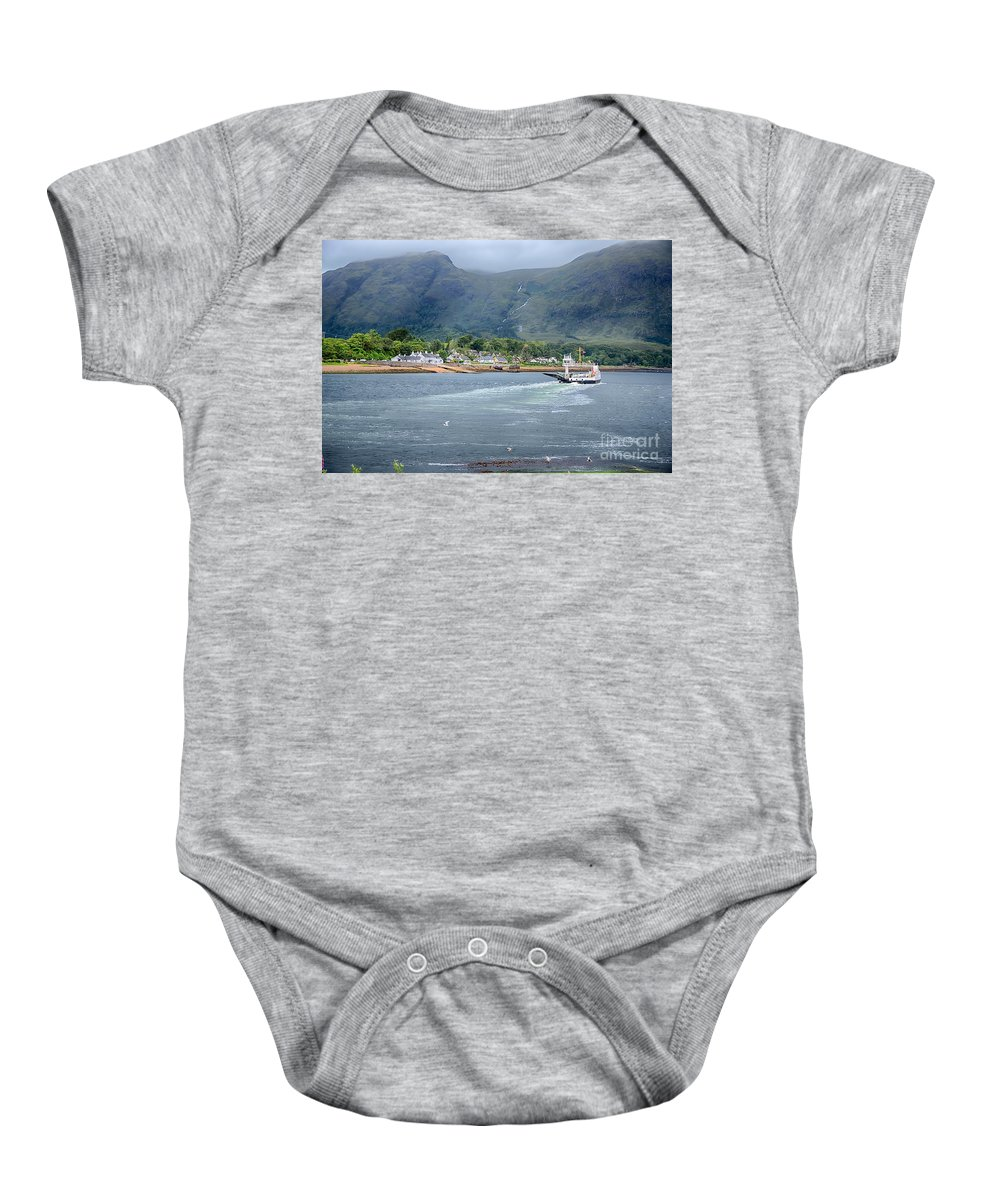 Corran Ferry Canvas Baby Onesie featuring the photograph Corran Ferry by Chris Thaxter