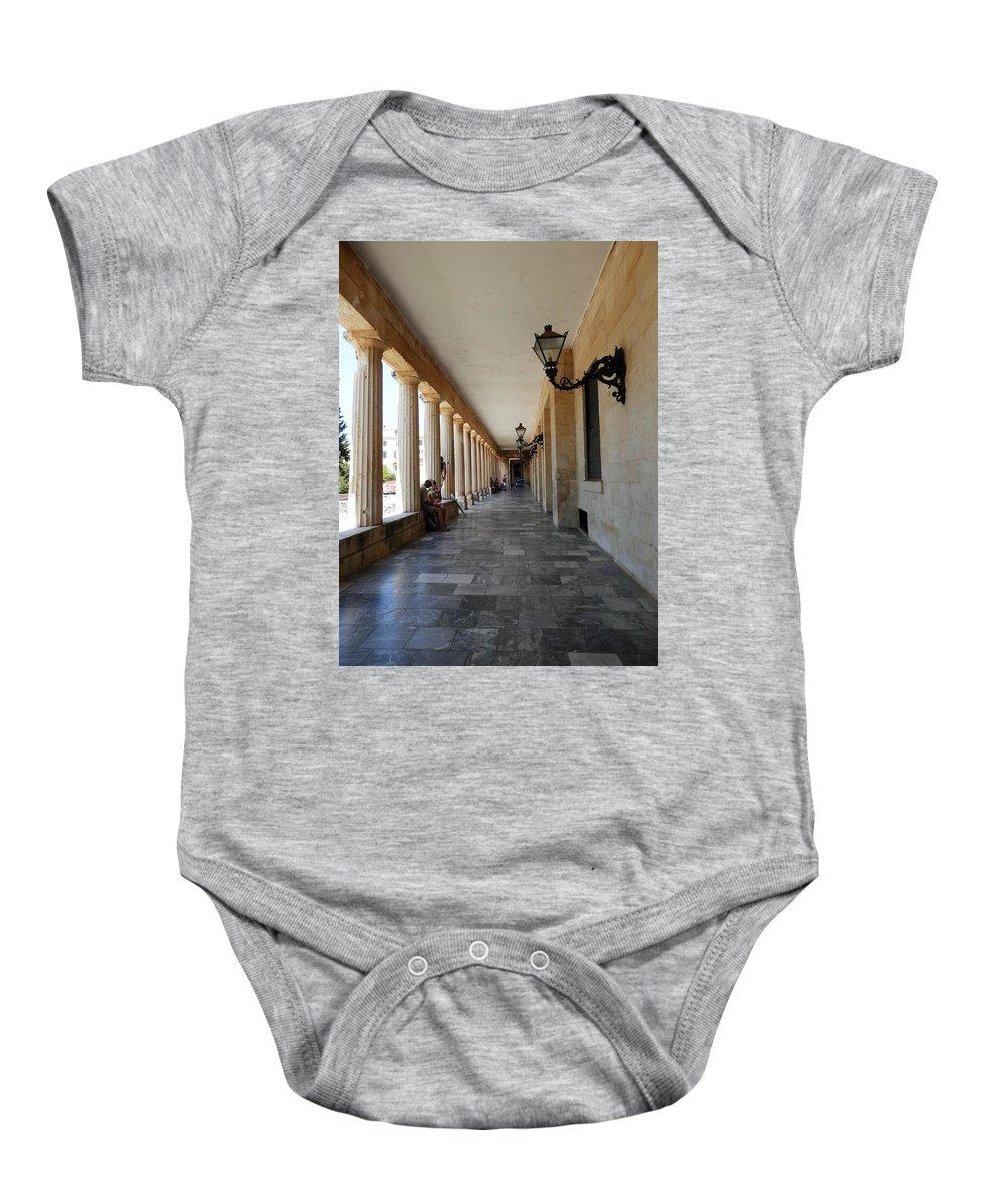 Corridor Baby Onesie featuring the photograph Corridor by Pema Hou