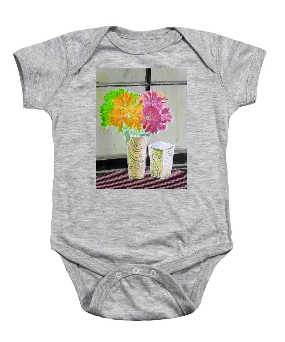 Flower Baby Onesie featuring the photograph Country Comfort - Photopower 492 by Pamela Critchlow