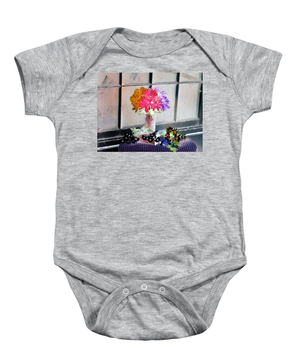 Flower Baby Onesie featuring the photograph Country Comfort - Photopower 500 by Pamela Critchlow