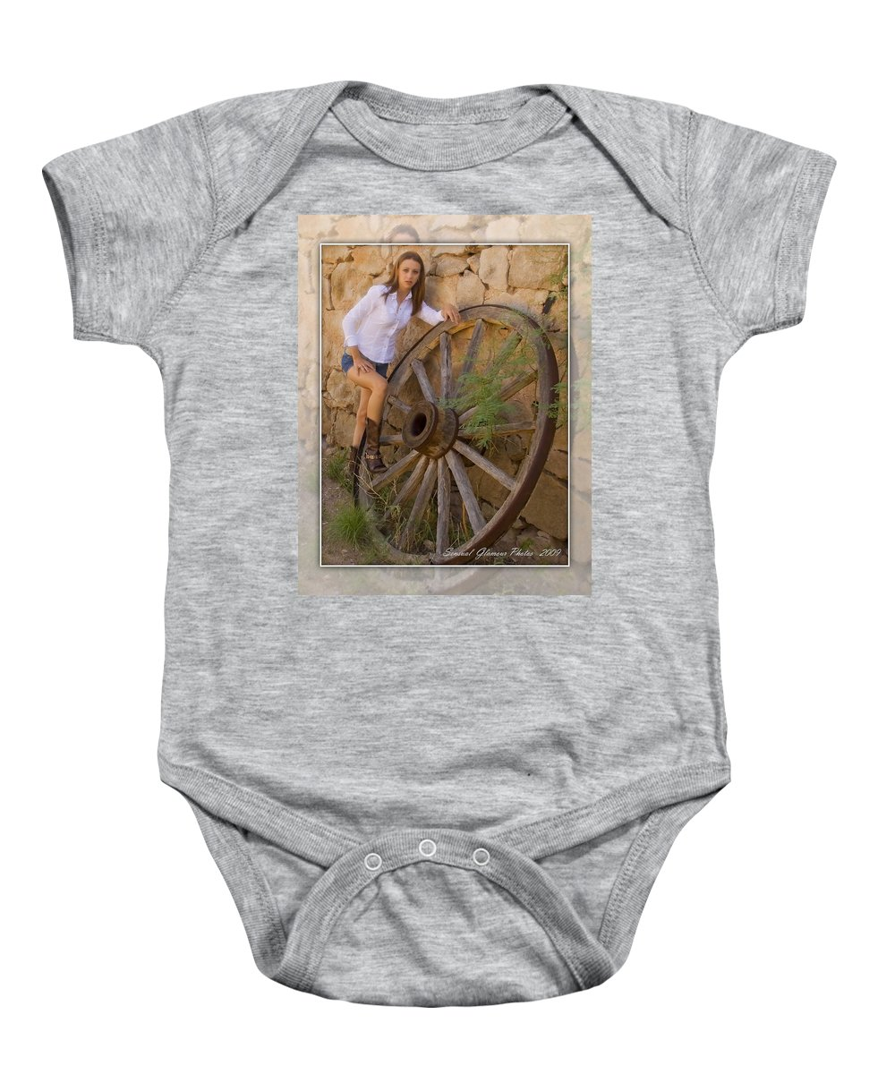 Cowgirl Baby Onesie featuring the photograph Cowgirl by Walter Herrit