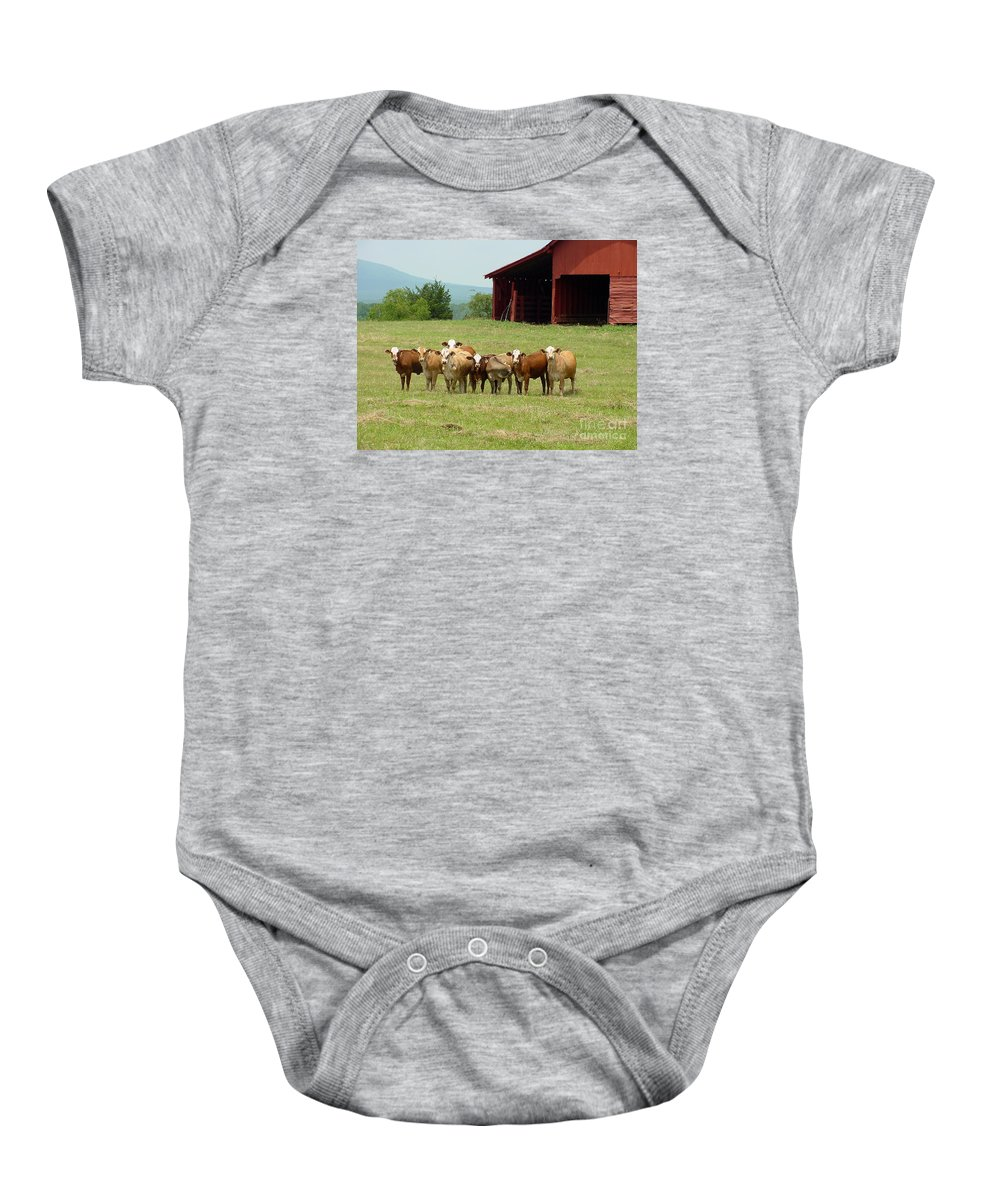 Cow Baby Onesie featuring the photograph Cows8918 by Gary Gingrich Galleries