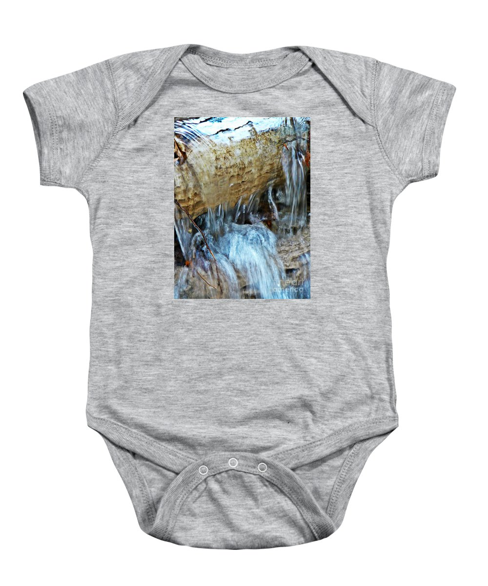 Creek Falls Baby Onesie featuring the photograph Creek Falls by Chris Sotiriadis
