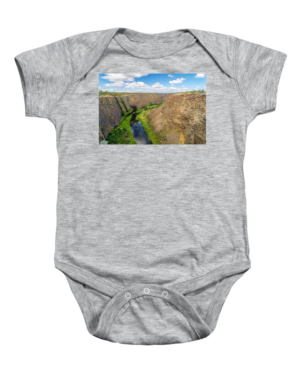 Rocks Baby Onesie featuring the photograph Crooked River Canyon by Jess Kraft