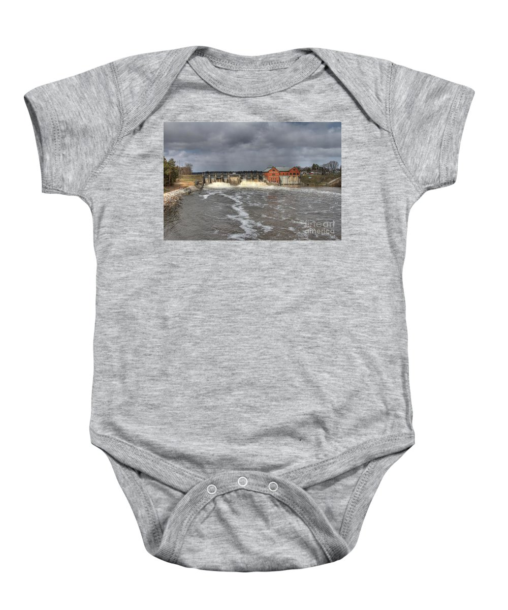 Dam Baby Onesie featuring the photograph Croton Dam Flood by Robert Pearson