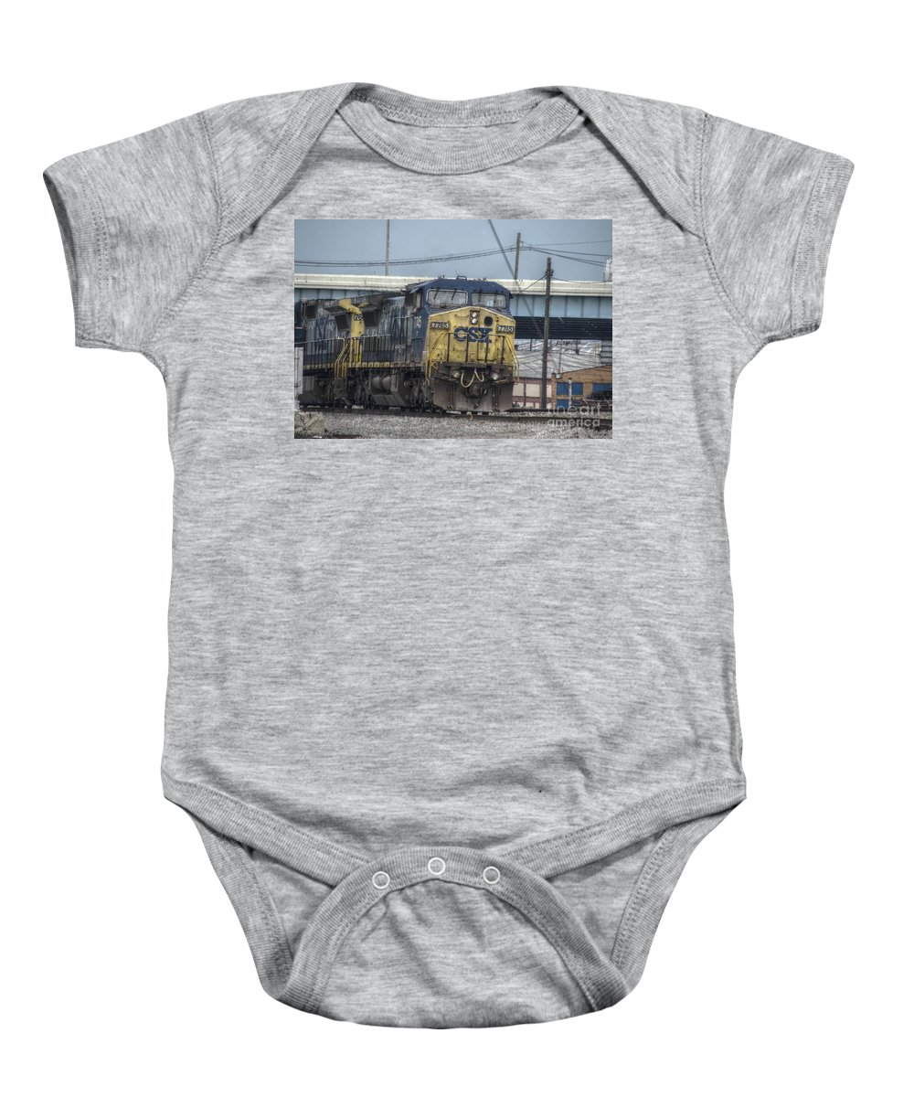Columbus Baby Onesie featuring the photograph Csx 7745 Engine 01 by J M Lister