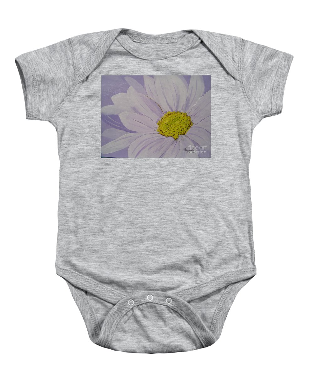 Daisy Baby Onesie featuring the painting Daisy by Anthony Dunphy