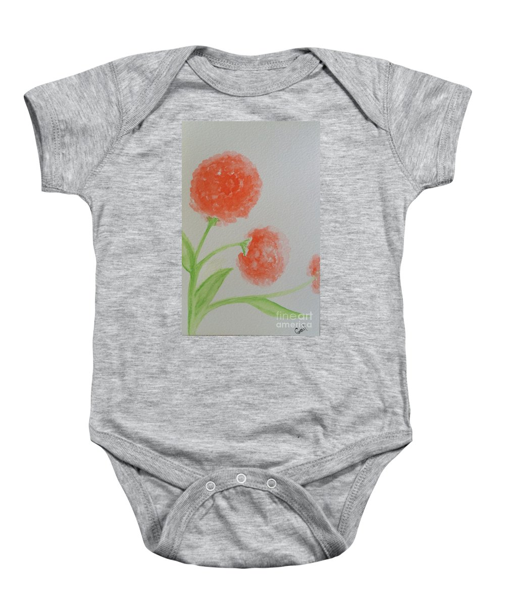 Dandelions Baby Onesie featuring the painting Dandelion Garden by Gail Nandlal
